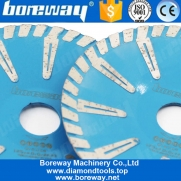 China Boreway Convex T Shape Turbo Segmented Concave Blade 180mm Curved Diamond Cutting Granite Cutting Discs Wholesaler 7'' Contour Cut with a Blade factory