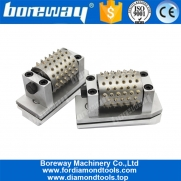 China Boreway L140mm Fickert Type 99S Bush Hammer Head Roller For Stone Grinding Suppliers fábrica
