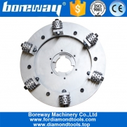 China Boreway Factory Supply Alloy Double Layer Rotary 17 Inch Concrete Floor Bush Hammer Wheel For Kindlex Floor Grinder  Plate Disk Disc factory