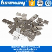 China Boreway High Efficiency Marble Cutting Notched Diamond Segment For Edge Cutting factory