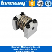China Boreway Line Type Medium Comma Finishing Bush Hammer Roller For Grinding Marble And Stone Floor factory