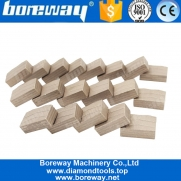 China Boreway Sandwich Groove M Shape Diamond Segment for Cutting Marble Manufacturer factory