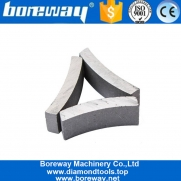 China Boreway Silver Welded Diamond Segment Core Drill Bit for concrete Manufacturer factory