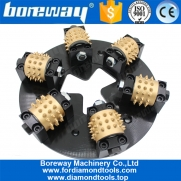 China Boreway Superior Quality HTC 270MM 45S Teeth Diamond Litchi Surface Plate With 6 Roller Manufacturer factory