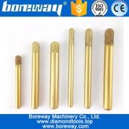 China Boreway Superior Vacuum Brazed Diamond CNC engraving Router Bits Drill Tools for granite stone carving factory