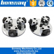 China Boreway Supply 125MM 20 Grains With 3 Rollers Star Shape Bush Hammer Plate For Grinding Stone Granite Marble Concrete factory