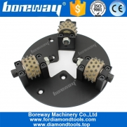 China Boreway Versorgung HTC 230MM Bush Hammered Disc mit 3 Rollen-Fabrik