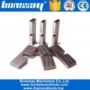 China Boreway U Slot High Frequency Weld Stone Slab Diamond Segment for Marble Cutting factory