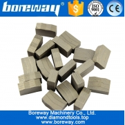 China Boreway cutting tools diamond segment for cutting stone granite marble blocks factory