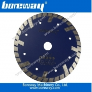 China Boreway diamond sintered continuous rim bevel turbo blades factory