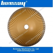 China Boreway diamond sintered continuous turbo waved blades factory