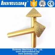 China Boreway supply 8MM handle 90 degree big mushroom 3D Vaccum Brazed Diamond Engraving Bits, Diamond Carving Bits factory