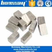China Boreway V Shape Diamond Saw Blade Segments For Block Of Natural Quartz Manufacturer factory