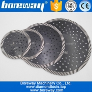 China China 115MM-230MM Fine Turbo Wave diamond saw blade for cutting granite marble concrete masonry factory factory