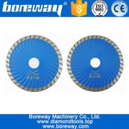"China China Hot pressed Diamond Waved Turbo Blade Stone Marble 4.5""/115mm or 5"" 125mm Diamond Saw Blade Cutting disc supplier factory"