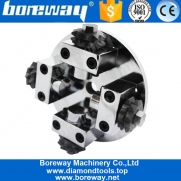 China Boreway Factory Sell D125x4TxM14 Diamond Star Shape Bush hammered Roller Disk Apply For Grinding Litchi Surface Suppliers factory