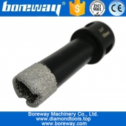 China Dia.19mm Vacuum Brazed Diamond drill core bit hotsell vacuum brazed diamond dry drilling bits with 5/8