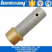 China Dia. 20mm Vacuum Brazed Diamond Finger Bits With M14 Thread Enlarge shape round bevel existing holes factory