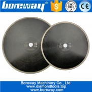 China Dia.300mm or 350mm Hot-Pressed Continuous Rim Diamond Saw Blade wholesale Cutting Disc Porcelain Tile Ceramic Marble Saw Blade factory