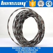 China Dia.4.0mm Vacuum Brazed Diamond Wire Sawing Finest Diamond Wire Cutting For Marble Jad And Other Stone factory