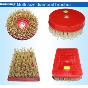 China Diamond antique abrasive brushes for matt surface factory