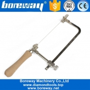 China Dry Wet Use Diamond Wire Saw With Coping Saw Steel Frame For Wood Stone Jade factory