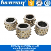 China Factory Price 45S Durable Bush Hammer Alloy Grinding Rollers for Hand held Grinders Machine factory