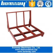 China Finished or semi-finished stone slab stroage rack for ware house factory