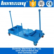China Finished or semi-finished stone slab transportation carts trolleys factory