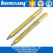 China High Quality 12-4/100mm Vaccum Brazed Diamond engraving bits CNC taper ball-end cutter rotary burrs for granite marble factory