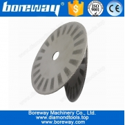 China Hot Sell Vacuum Brazed Granite Stone Cutting Blade With Protection Segment D180*5*3*22mm factory