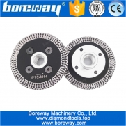China Hot pressed mini mesh turbo rim diamond blades with removable M14 flange factory price 75MM Carving blade cutting disc factory