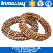 China Hot sale portable abrasive diamond wire saw rope and beads for cutting granite marble stone and concrete factory