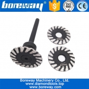 China Mini Diamond blade with removable 6mm shank Dia 30mm-50mm Diamond Caving blade manufacturer factory