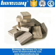 China Only Wet Use Sandwich Structure Taper Shape Block Cutting Granite Segment factory