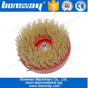 China Power Tools Round Diamond Ageing Brush for Stone Countertop factory