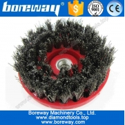 China Round steel grinding brush for stone factory