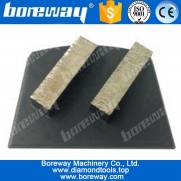 China Steel base 2 declining rectangle segments diamond grinding blocks for grinding concrete and terrazzo floor factory