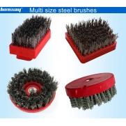 China Steel wire antique abrasive brushes for matt and antique surface factory