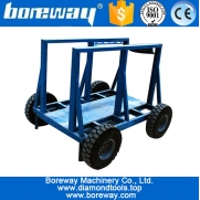 China Stone slab hand moving carts trolleys for stone factory factory