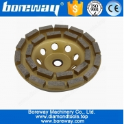 China Supply 180mm Double Segments Dimaond Cup Grinding Wheel For Hard Concrete factory