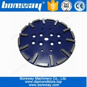 China Supply 250mm Diamond Concrete Flat Grinding Plate factory