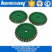 China Supply Ceramic Segmented Profile Wheel D150*B10*15.88H factory