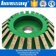 China Supply D120*20T*20H CNC Charfer Grinding Wheel For Ceramic factory