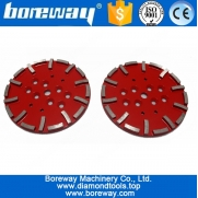 China Forneça D250x20mm Diamond Floor Grinding Flat Disc For Concrete fábrica