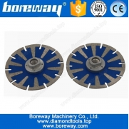 China Supply T Shape Convex Diamond Cutting Saw Blade With Flange D125*M14 factory