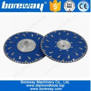 China Supply Turbo Wave Raindrop Segment Disc Cutting Blade Granite With Flange D230*7*3*70mm factory
