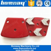 الصين مصنع Three Arrow Segments Trapezoid Diamond Concrete Grinding Disc For Concrete Terrazzo Floor