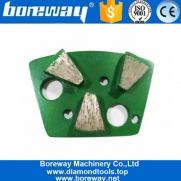China Three Fan Shape Segments Diamond Floor Grinding Block For Large Areas Of Thin Coating Removal factory