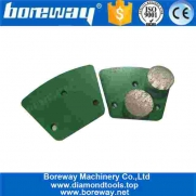 China Trapezoid Diamond Grinding Block With Two Round Segment For Concrete Floor Renovation factory